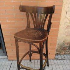Antigüedades: TABURETE DE BAR ESTILO THONET, AÑOS 70. Lote 177955442