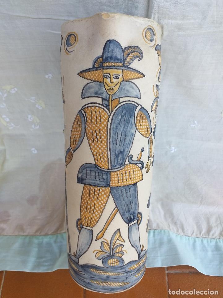Antigüedades: Jarrón cerámica la Menora talavera - Foto 2 - 177958472