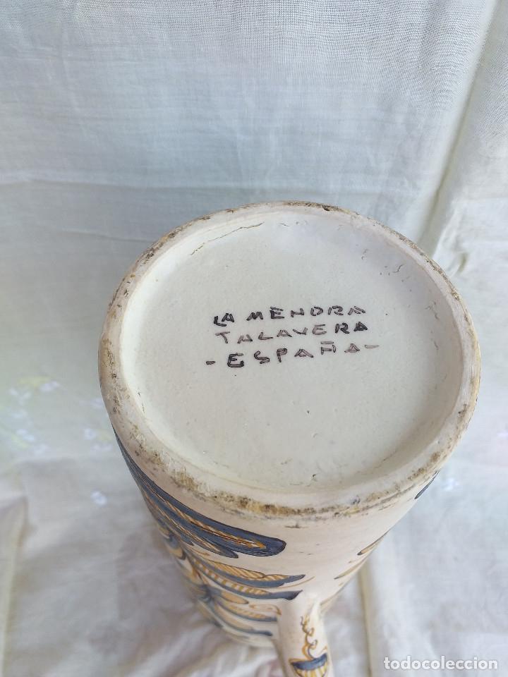 Antigüedades: Jarrón cerámica la Menora talavera - Foto 3 - 177958472