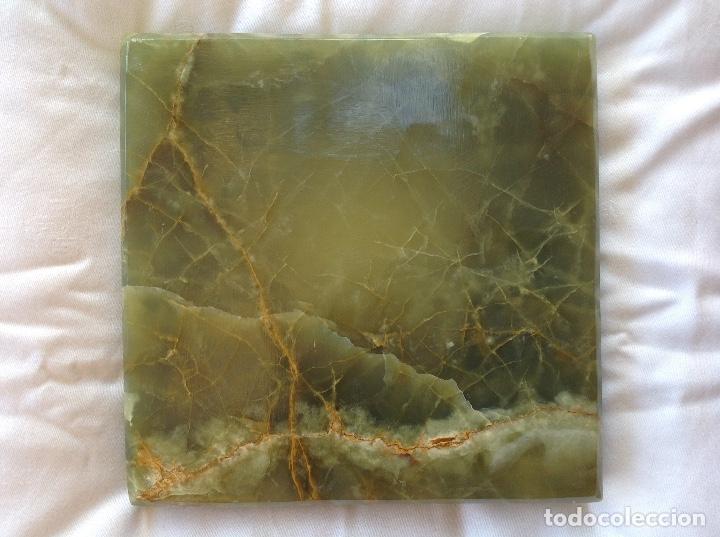 Antigüedades: Gran cenicero de ónice verde - Foto 2 - 177963589