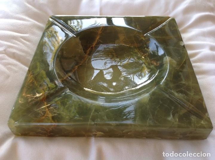 Antigüedades: Gran cenicero de ónice verde - Foto 3 - 177963589