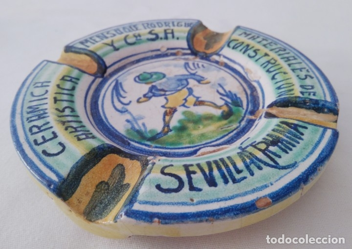 Antigüedades: Cenicero cerámica artística Triana. Mensaque Rodríguez - Foto 2 - 177972397