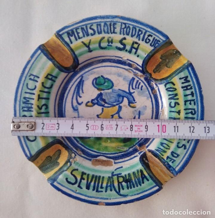 Antigüedades: Cenicero cerámica artística Triana. Mensaque Rodríguez - Foto 5 - 177972397