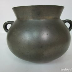 Antigüedades: ANTIGUA OLLA CATALANA, OLOT - SELLO PERA CHOMAS (COMAS) - S. XVIII. Lote 177973235