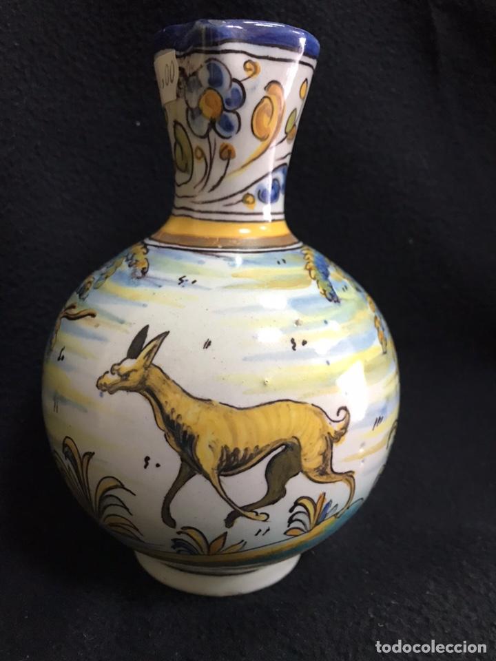 ANTIGUA JARRA DE TALAVERA RUIZ DE LUNA 17 CM. (Antigüedades - Porcelanas y Cerámicas - Talavera)