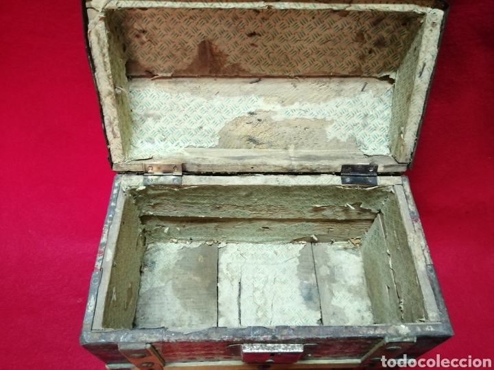 Antigüedades: Baúl miniatura pp XX - Foto 5 - 178022700