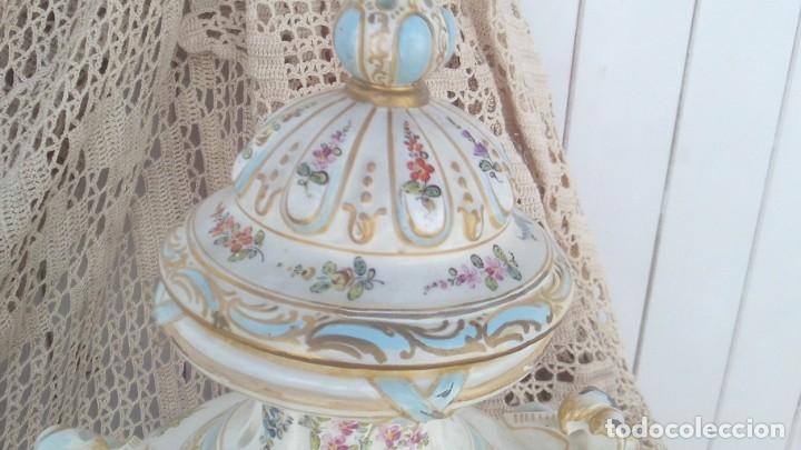 Antigüedades: jarron en porcelana de chelsea con marcas ,ancla dorada 1756-1769 - Foto 3 - 178028988