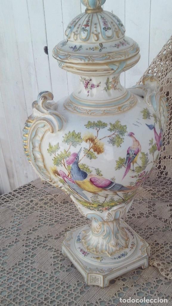 Antigüedades: jarron en porcelana de chelsea con marcas ,ancla dorada 1756-1769 - Foto 6 - 178028988