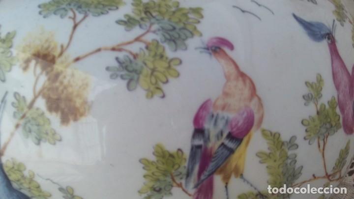 Antigüedades: jarron en porcelana de chelsea con marcas ,ancla dorada 1756-1769 - Foto 7 - 178028988
