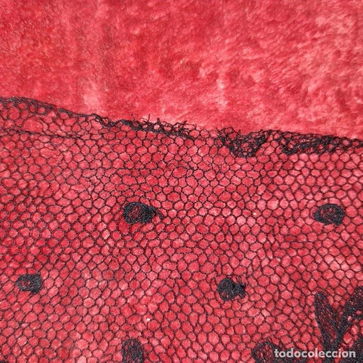 Antigüedades: BANDAS ENCAJE BORDADO A MANO A LA AGUJA. 637 CM. ESPAÑA. FIN SIGLO XIX - Foto 8 - 178035575