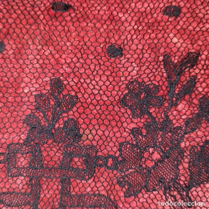 Antigüedades: BANDAS ENCAJE BORDADO A MANO A LA AGUJA. 637 CM. ESPAÑA. FIN SIGLO XIX - Foto 11 - 178035575