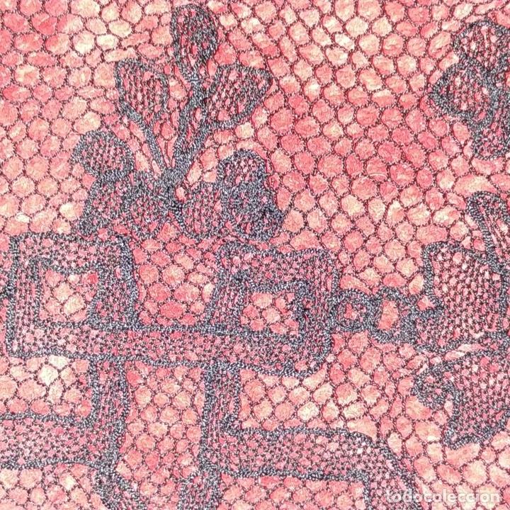 Antigüedades: BANDAS ENCAJE BORDADO A MANO A LA AGUJA. 637 CM. ESPAÑA. FIN SIGLO XIX - Foto 13 - 178035575