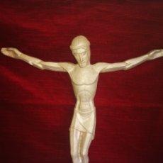 Antigüedades: PRECIOSO CRISTO EN ALUMINIO MACIZO. Lote 178038983