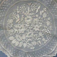 Antiguidades: ANTIGUO TAPETE DE ENCAJE GRANADINO MANUAL S. XIX. Lote 178064744