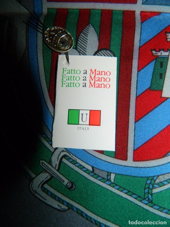 Antigüedades: ITALY Pañuelo de Caballero TASADORES DE SEGUROS ZARAGOZA 1987 - Foto 3 - 178083244
