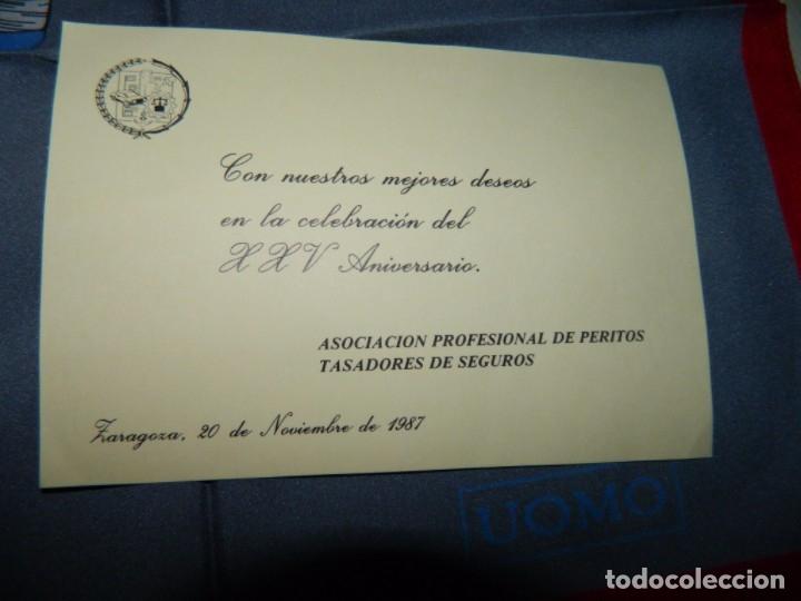 Antigüedades: ITALY Pañuelo de Caballero TASADORES DE SEGUROS ZARAGOZA 1987 - Foto 4 - 178083244
