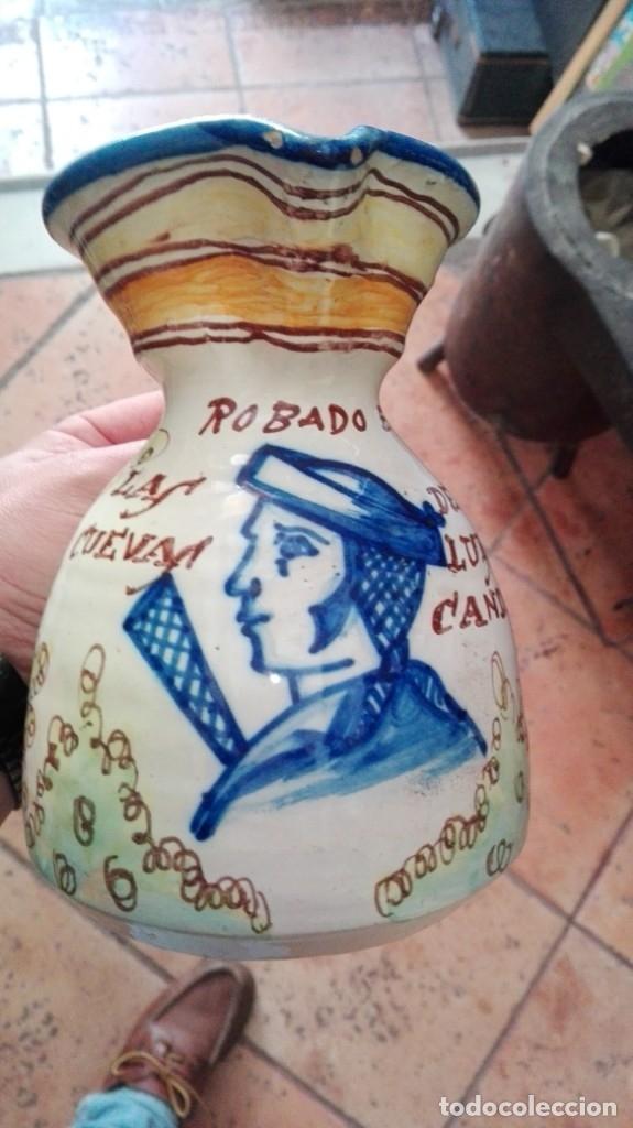 JARRA ROBADA EN LAS CUEVAS A LA LUZ DE LAS CANDELAS (Antigüedades - Porcelanas y Cerámicas - Puente del Arzobispo )