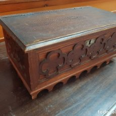 Antigüedades: ANTIGUA CAJA DE MADERA LIMOSNERA DE IGLESIA . Lote 178096580