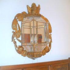 Antigüedades: APLIQUE DE LATÓN. Lote 178117814
