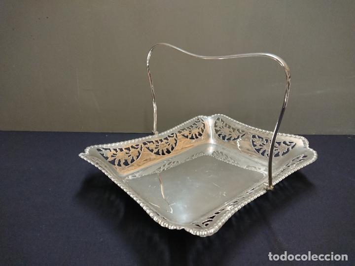 BANDEJA BAÑO DE PLATA (Antigüedades - Platería - Bañado en Plata Antiguo)