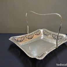 Antigüedades: BANDEJA BAÑO DE PLATA. Lote 178134927