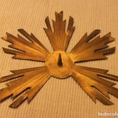 Antigüedades: CORONA, POTENCIA, HALO RESPLANDOR PARA IMAGEN RELIGIOSA. Lote 178142509