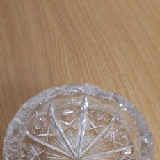 Antigüedades: CENICERO DE CRISTAL TALLADO DE BOHEMIA. Lote 178144555