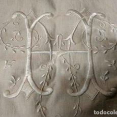 Antigüedades: ANTIGUO FUNDA DE ALMOHADA EN HILO BORDADA. Lote 178152320