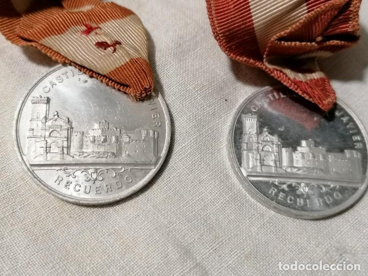 Antigüedades: Lote de dos Antiguos escapularios con medallas de S. Francisco Xavieri - Foto 5 - 178155539