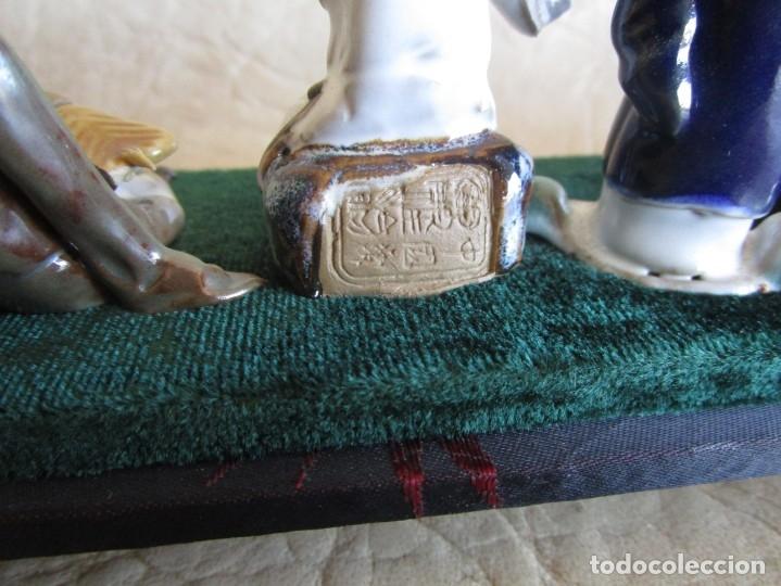 Antigüedades: diorama antiguas figuras porcelana chinas tamaño pequeño figura asiatica - Foto 11 - 147712022