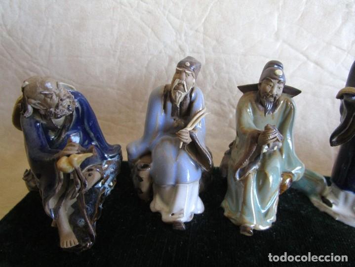 Antigüedades: diorama antiguas figuras porcelana chinas tamaño pequeño figura asiatica - Foto 6 - 147712022