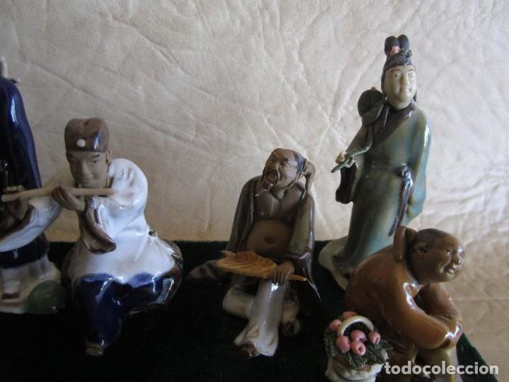 Antigüedades: diorama antiguas figuras porcelana chinas tamaño pequeño figura asiatica - Foto 8 - 147712022
