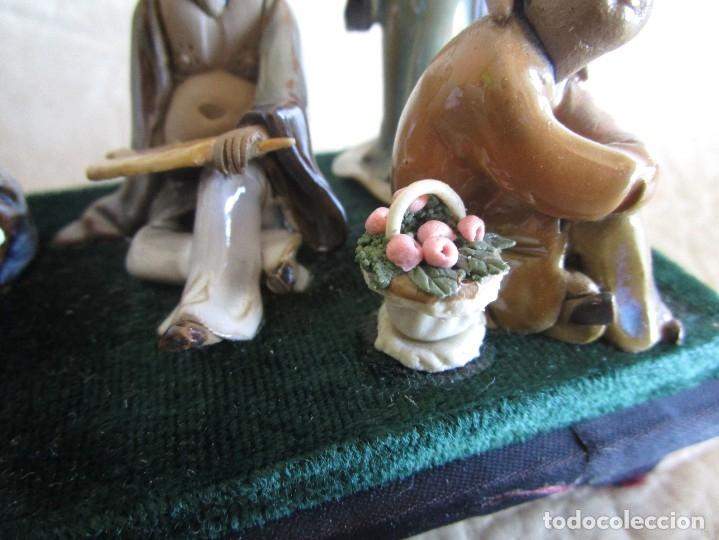 Antigüedades: diorama antiguas figuras porcelana chinas tamaño pequeño figura asiatica - Foto 9 - 147712022