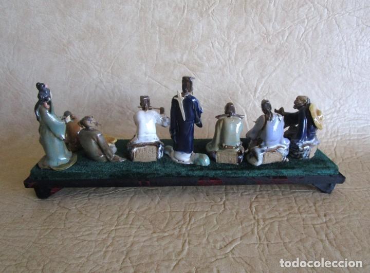 Antigüedades: diorama antiguas figuras porcelana chinas tamaño pequeño figura asiatica - Foto 10 - 147712022