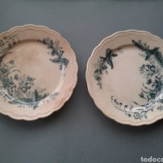 Antigüedades: PAREJA DE PLATOS ANTIGUOS DE SANDEMAN MACDOUGALL. Lote 178183693