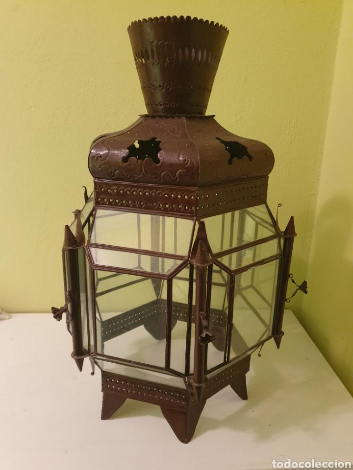Antigüedades: MUY BONITO FAROL DE TECHO S.XIX - Foto 3 - 178207472