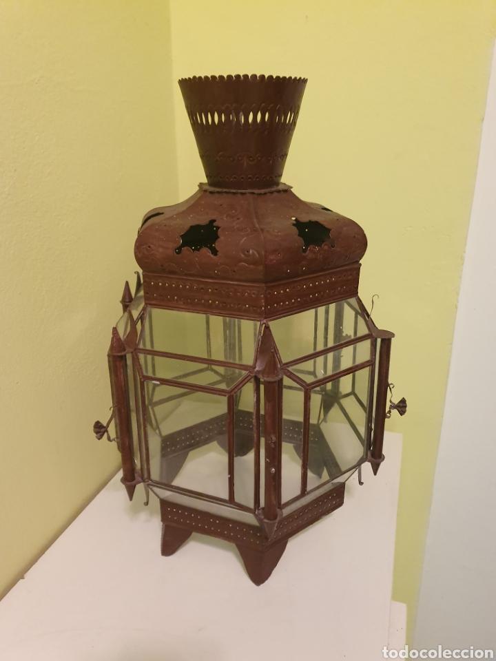 MUY BONITO FAROL DE TECHO S.XIX (Antigüedades - Iluminación - Faroles Antiguos)