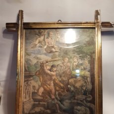 Antigüedades: ANTIGUA PAREJA DE MARCOS EN ORO FINO SG.XIX. 1860-1880 CRISTAL ORIGINAL AGUAS. Lote 178213917