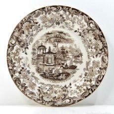 Antigüedades: PLATO DECORATIVO CERAMICA MOTIVOS ORIENTALES PICKMAN (LA CARTUJA DE SEVILLA). Lote 178215307