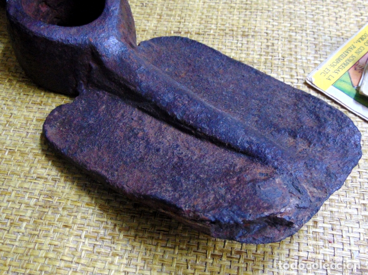 Antigüedades: tosca azada medieval, robusta, cincelada , interesante pieza - Foto 4 - 178219175