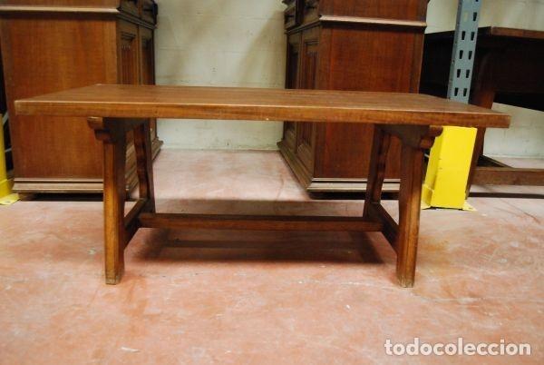 Antigüedades: Mesa baja de madera rectangular en estilo castellano - Foto 2 - 178219606