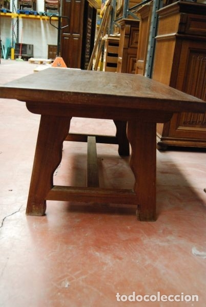 Antigüedades: Mesa baja de madera rectangular en estilo castellano - Foto 3 - 178219606
