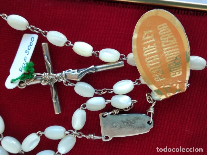 Antigüedades: Rosario plata antiguo - Foto 3 - 178222076