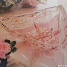 Antigüedades: ENTREMESERA SALSERA 3 COMPARTIMENTOS WALTHER GLAS CRISTAL ALEMANIA. Lote 178226553