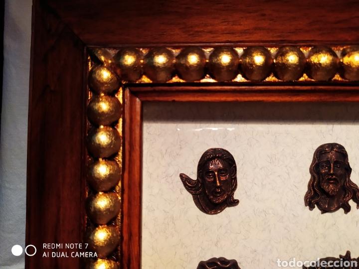 Antigüedades: ROSTROS DE CRISTOS DE ZAMORA, EN METAL, ENMARCADOS, ÚNICOS, VER - Foto 2 - 178250005