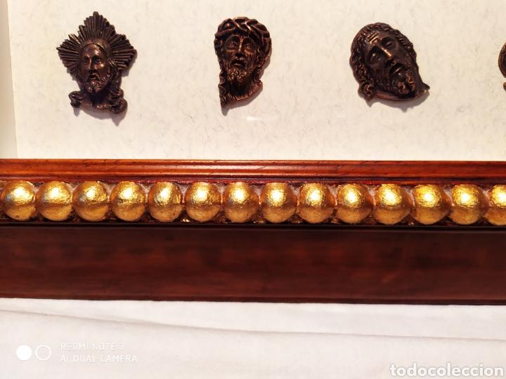 Antigüedades: ROSTROS DE CRISTOS DE ZAMORA, EN METAL, ENMARCADOS, ÚNICOS, VER - Foto 3 - 178250005