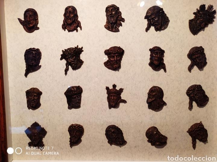 Antigüedades: ROSTROS DE CRISTOS DE ZAMORA, EN METAL, ENMARCADOS, ÚNICOS, VER - Foto 4 - 178250005