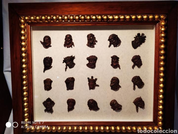 Antigüedades: ROSTROS DE CRISTOS DE ZAMORA, EN METAL, ENMARCADOS, ÚNICOS, VER - Foto 5 - 178250005