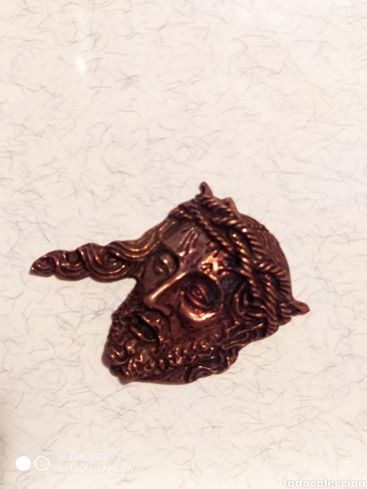 Antigüedades: ROSTROS DE CRISTOS DE ZAMORA, EN METAL, ENMARCADOS, ÚNICOS, VER - Foto 6 - 178250005