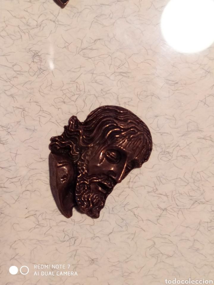 Antigüedades: ROSTROS DE CRISTOS DE ZAMORA, EN METAL, ENMARCADOS, ÚNICOS, VER - Foto 7 - 178250005